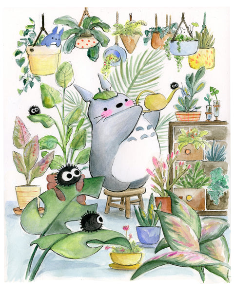 Green Thumb Totoro Original Art