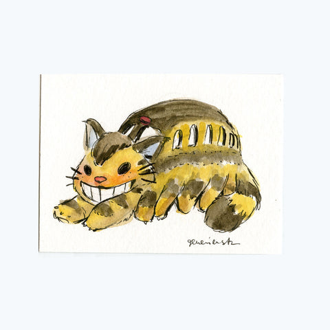 Catbus Original Painting