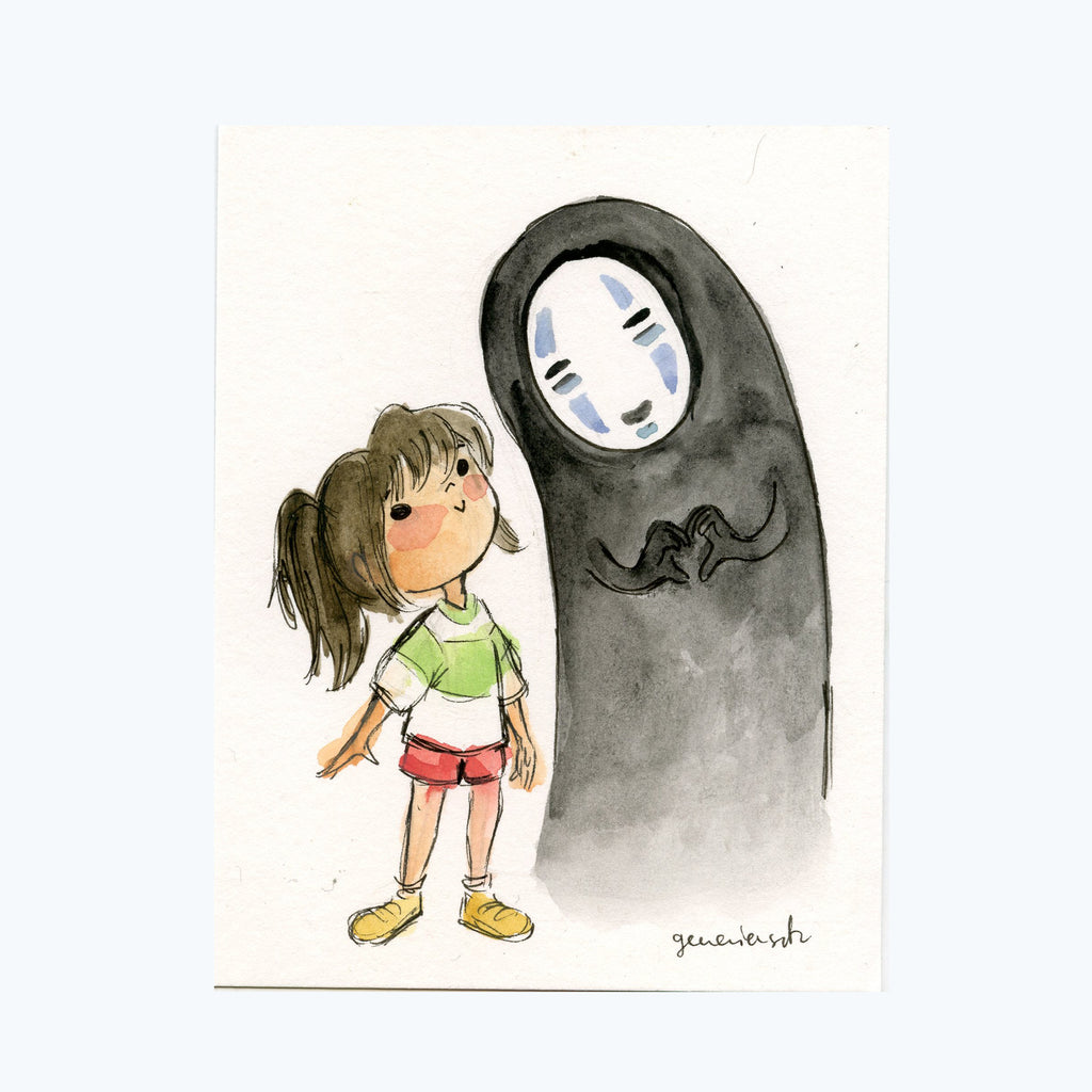 Chihiro and No Face Original Painting