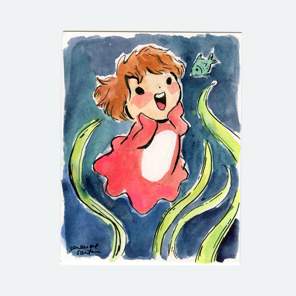 Happy Ponyo Original Painting