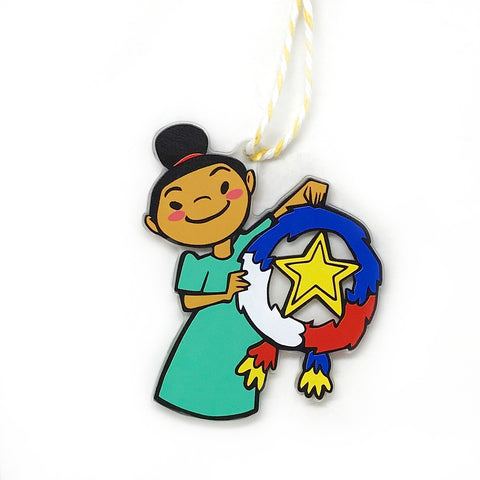 Pinay Girl Holiday Ornament