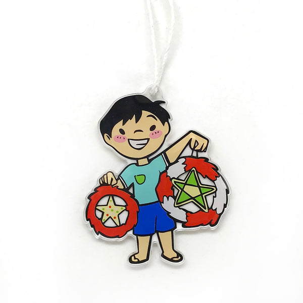 Parol Boy Holiday Ornament