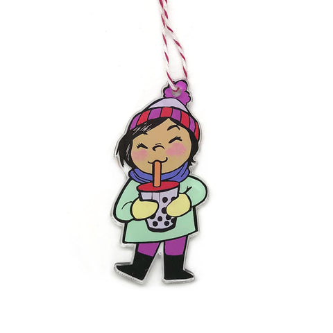 Boba Girl Holiday Ornament