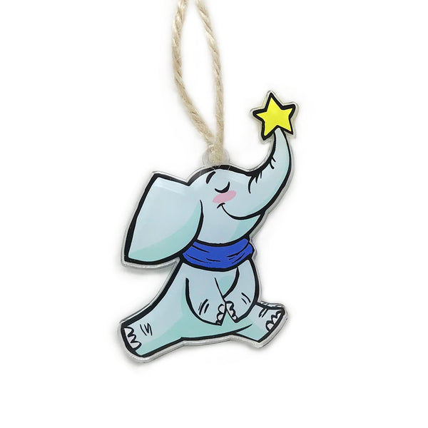 Elephant Holiday Ornament