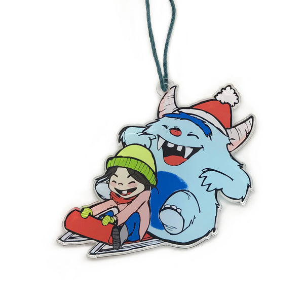 Sledding Holiday Ornament