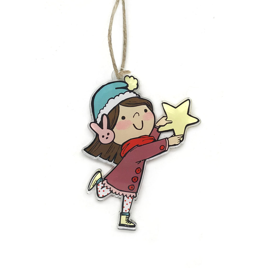 Star Girl Holiday Ornament