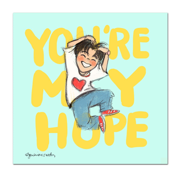 BTS J-Hope You're My Hope Art Print