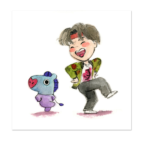 BTS x BT21 J-Hope & Mang Limited Edition Art Print