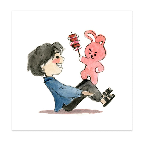 BTS x BT21 Jungkook and Cooky Limited Edition Art Print