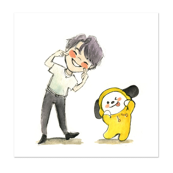 BTS x BT21 Jimin and Chimmy Limited Edition Art Print