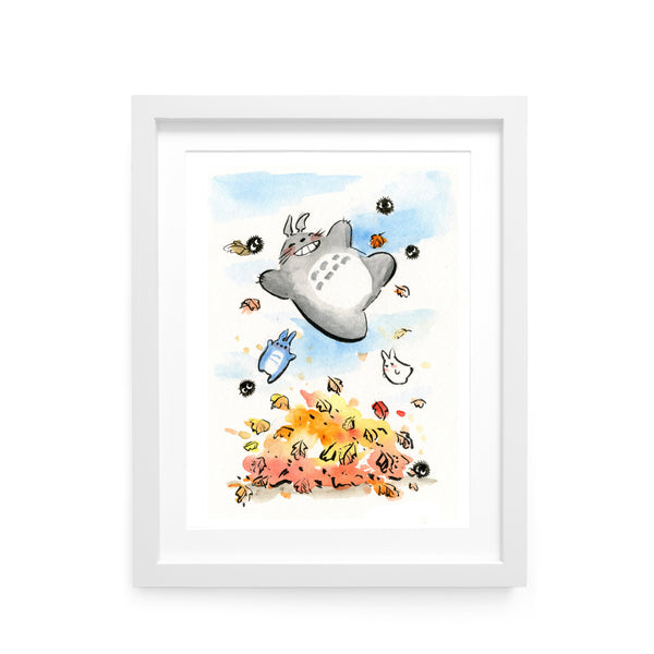 Autumn Totoro Limited Edition Art Print