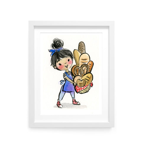 Bread Girl Limited Edition Art Print