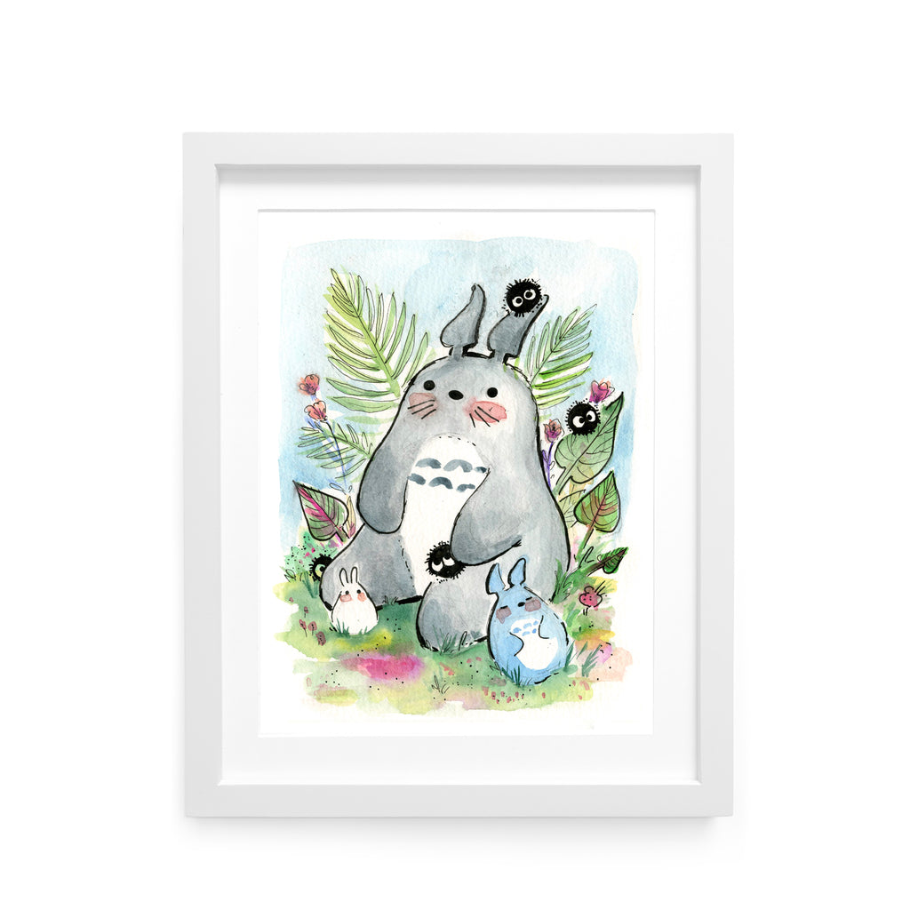 Garden Totoro Limited Edition Print