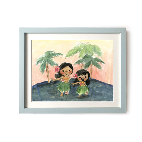 Hula Girls Art Print
