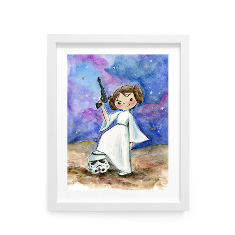 Princess Leia Limited Edition Art Print
