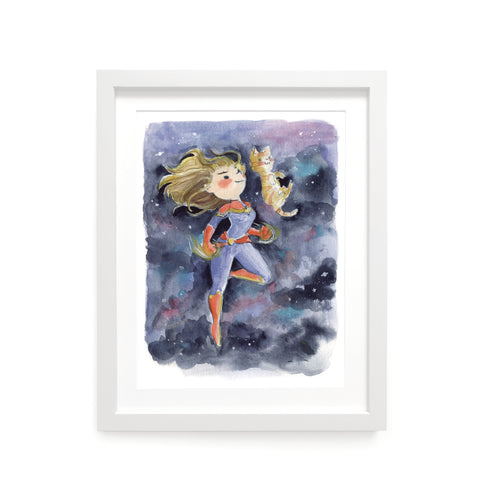 Captain Marvel Limited Edition Art Print