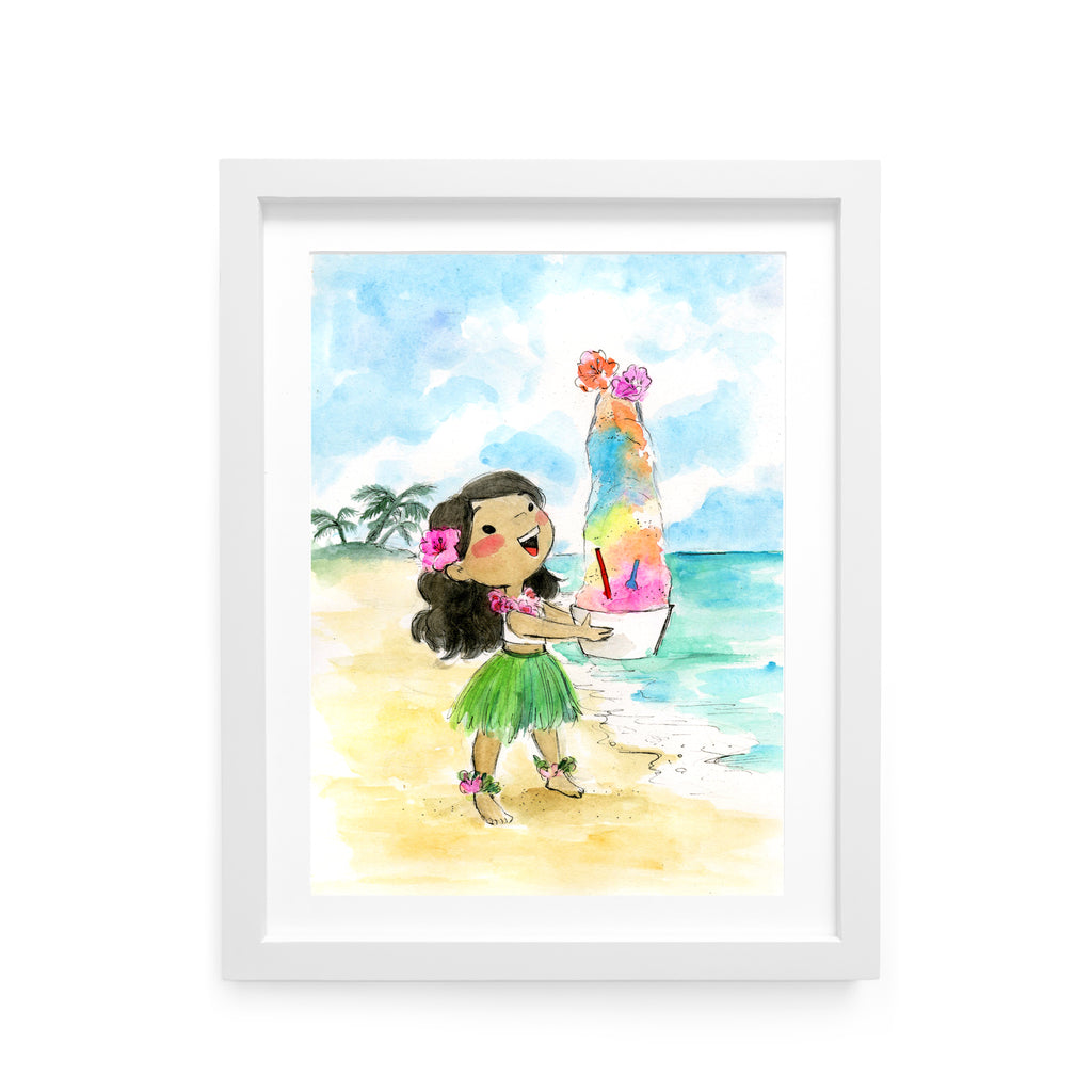 Shaved Ice Girl Art Print