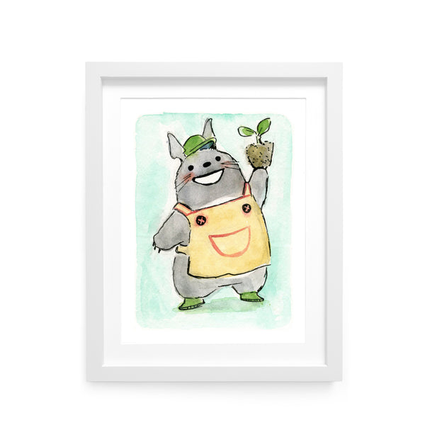 ACNH Leif Totoro Limited Edition Art Print