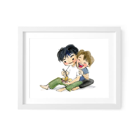 BTS Best Friends VMin Art Print