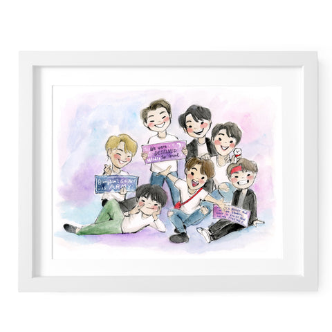 BTS Destined to Meet Art Print
