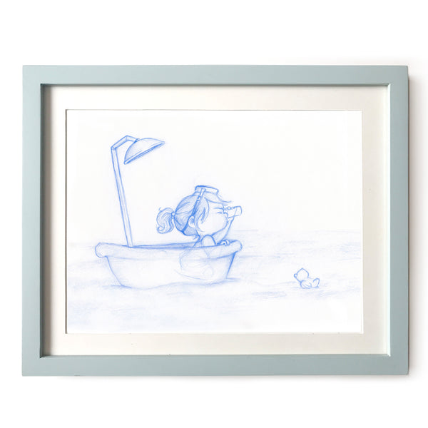 Bathtub Adventurer Art Print