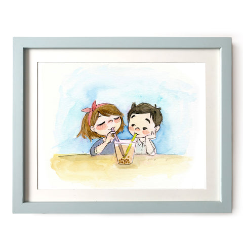 Boba Lovers Art Print
