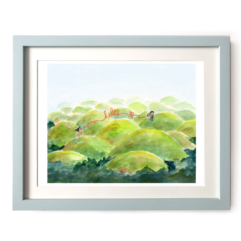Chocolate Hills Hello Art Print