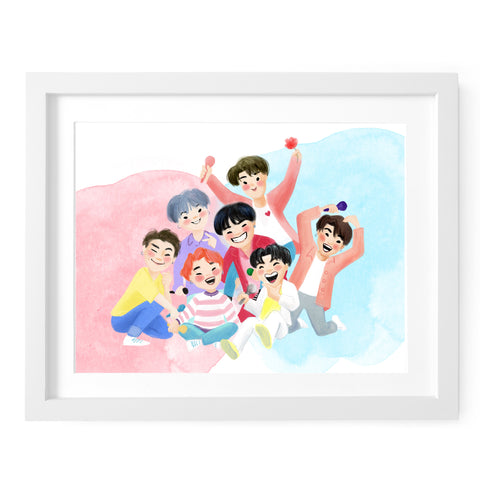 BTS Boy with Luv Art Print