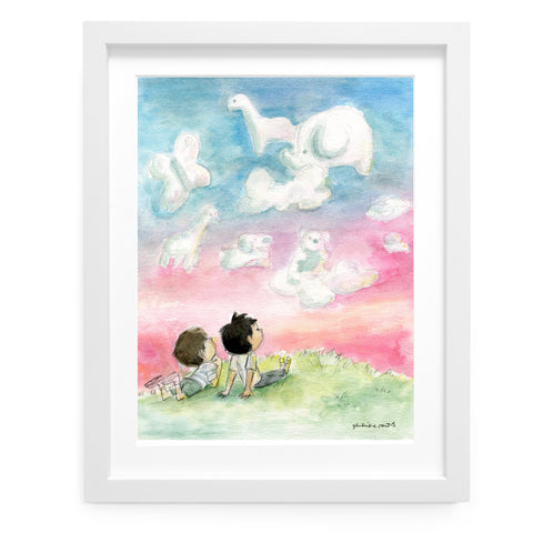 Cloud Watching Art Print