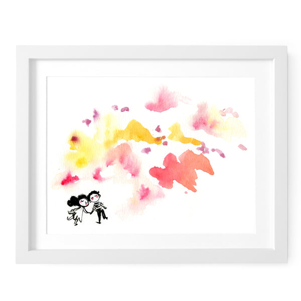 Daydreaming Lovers Art Print