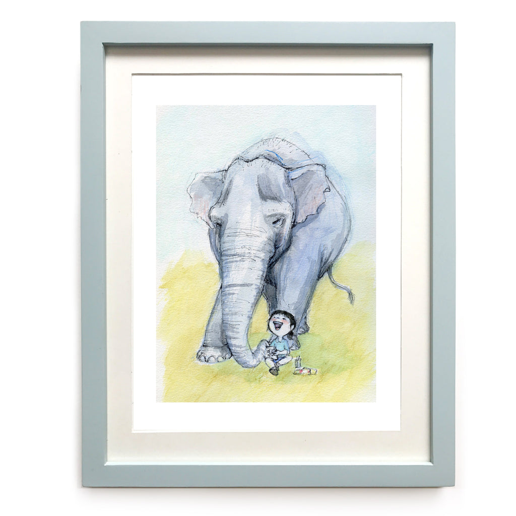 Elephant Painting Art Print