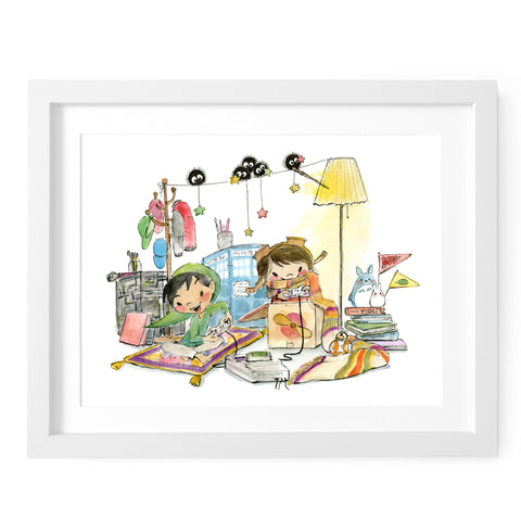 Geeky Gamers Art Print