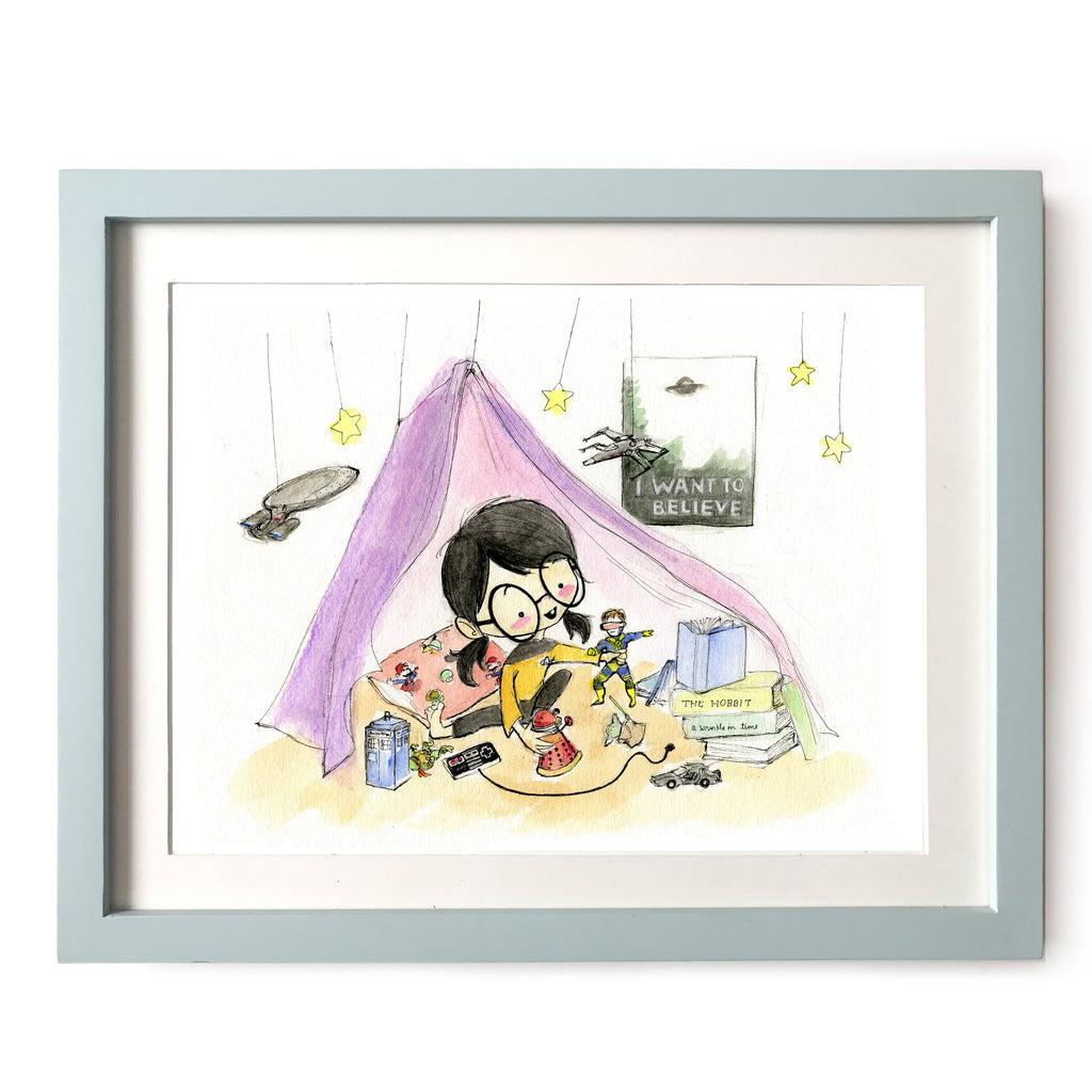 Growing Up Geek Art Print
