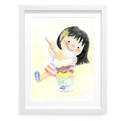 Halo Halo Happiness Art Print