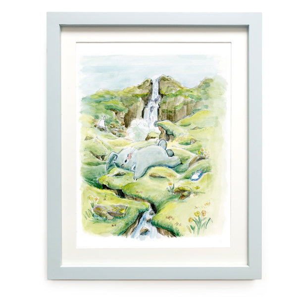 Icelandic Totoro Limited Edition Art Print