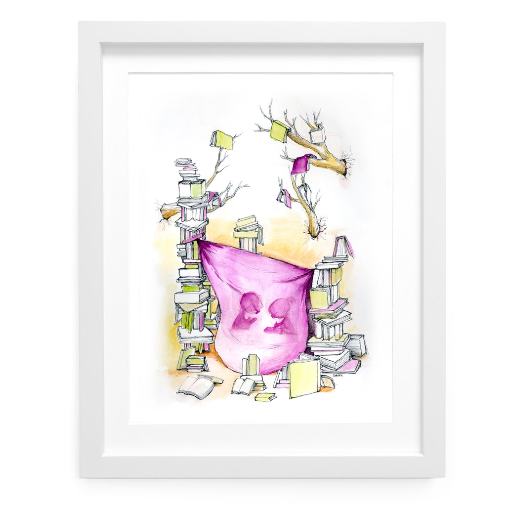 Literary Fort Art Print