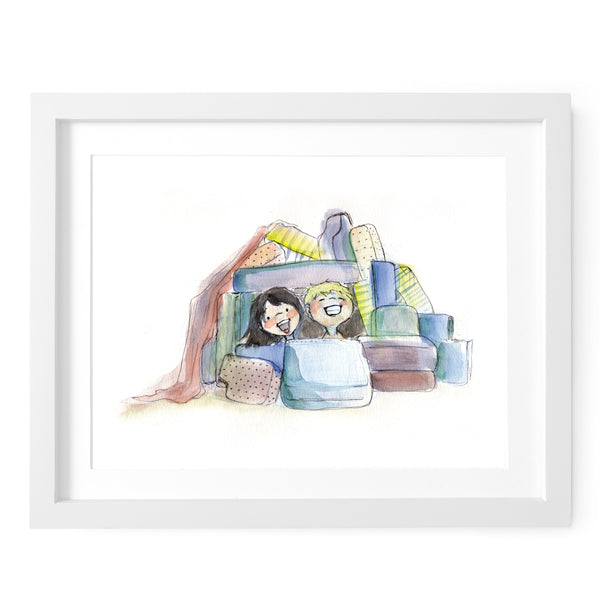 Pillow Fort Art Print