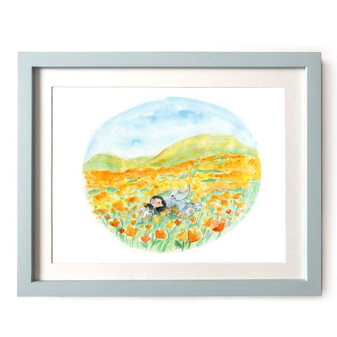 Poppy Daydreams Art Print