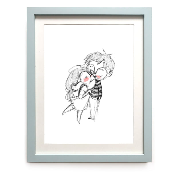 Pssst I Love You Art Print