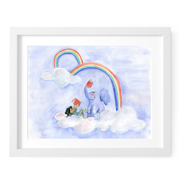 Reading Rainbow Art Print