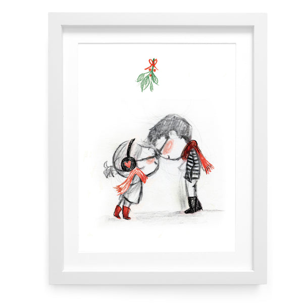 Mistletoe Clink Art Print