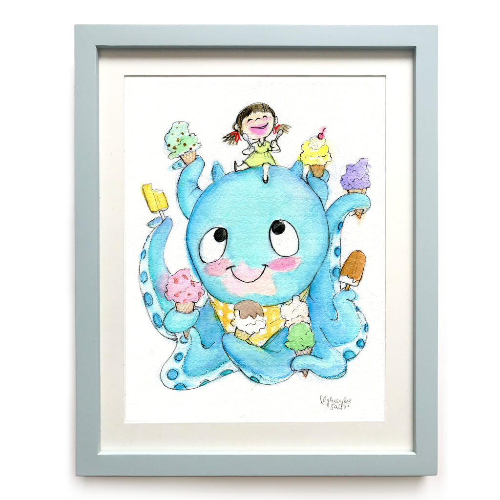 Ice Cream Buddies Art Print