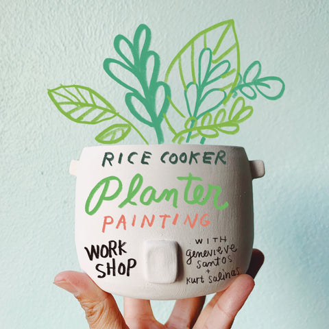 Ceramic Rice Cooker Planter Painting Workshop