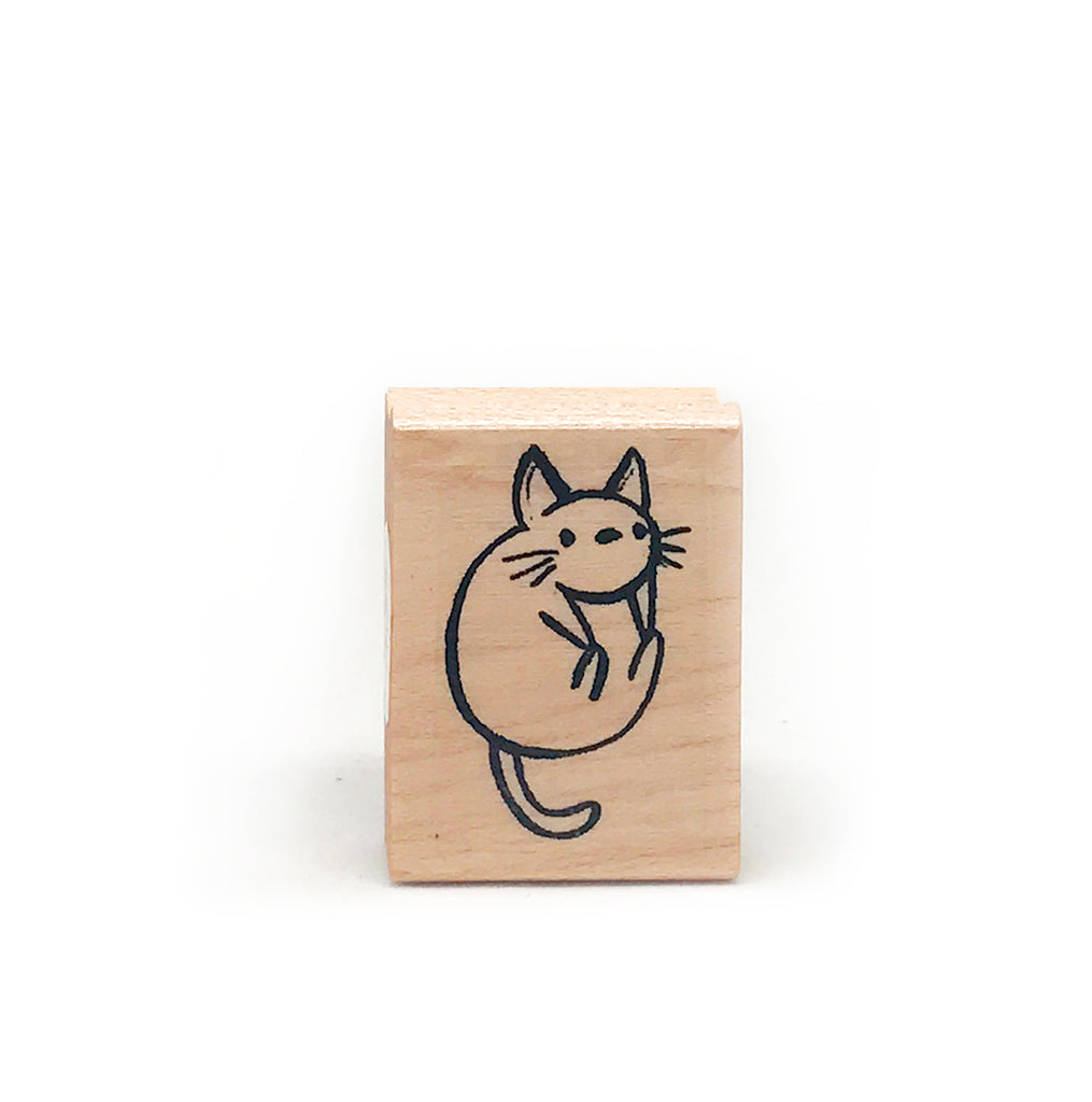 Silly Kitty Rubber Stamp