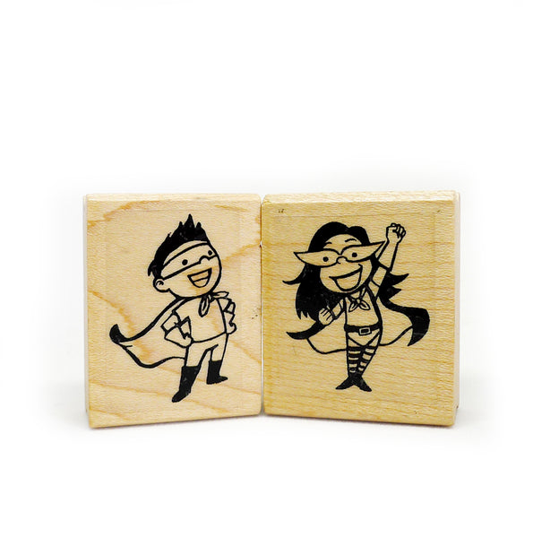 Superhero Rubber Stamps