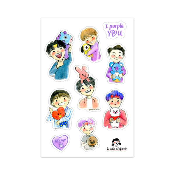 BTS x BT21 Sticker Sheet