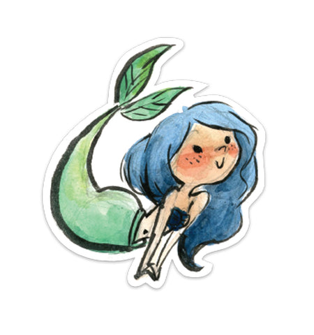 Blue Mermaid Vinyl Sticker