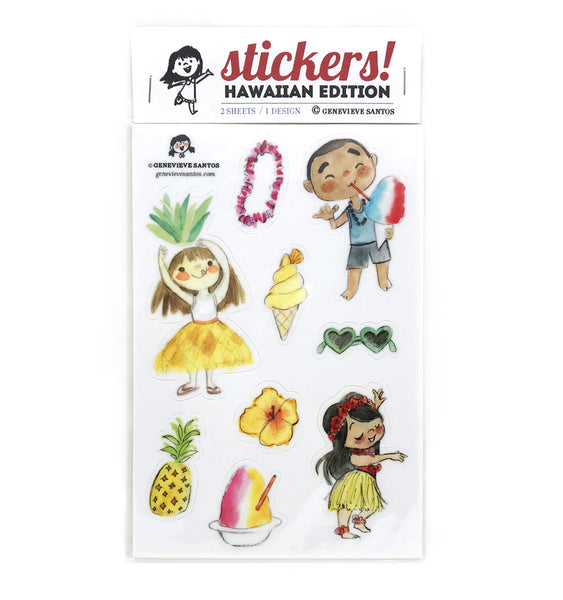 Hawaiian Sticker Set