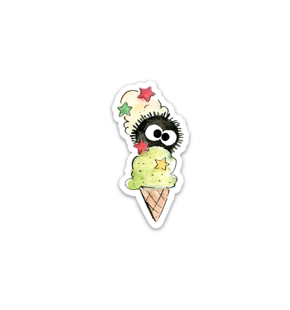 Ice Cream Soot Ball Vinyl Sticker