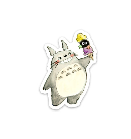 Ice Cream Totoro Vinyl Sticker